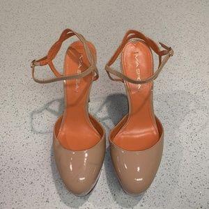 Via Spiga Daffodil Patent Ankle Strap Heels